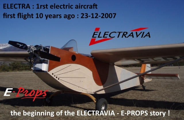 electra first flight 23-12-2007 electravia e-props