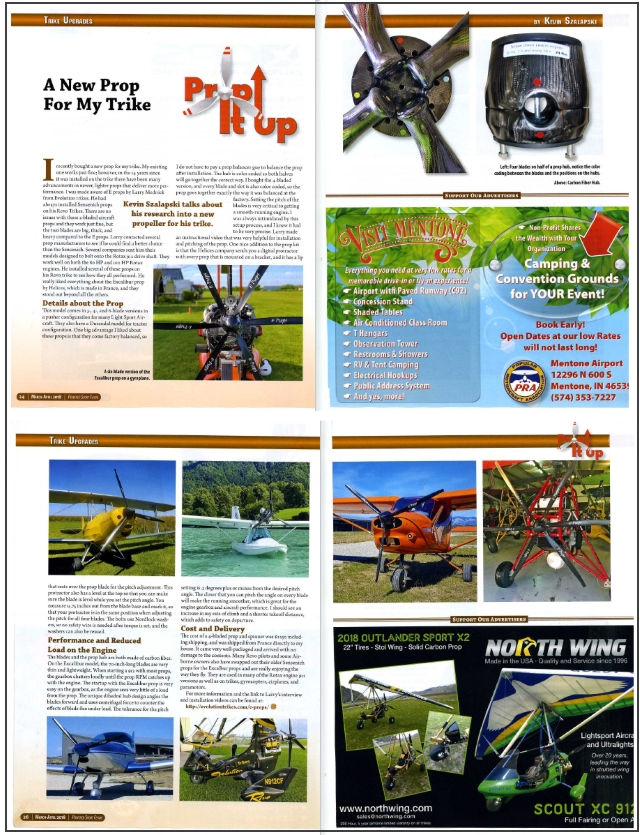 E-Props powered sport flying magazine april 2018 propping up your trike