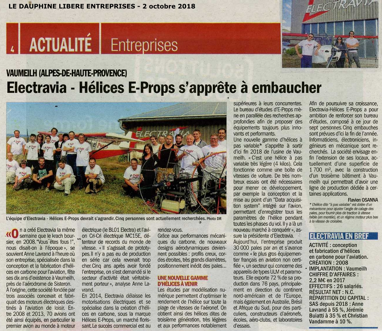 ELECTRAVIA HELICES E-PROPS DAUPHINE LIBERE OCT 2018